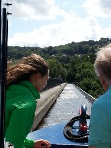 Pontcysyllte Aqueduct, Wales; photo taken by Kathy Jia-Jones