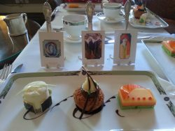 Afternoon Art Tea at Merrion Hotel, Dublin, Ireland; photo taken by Kalli Jones