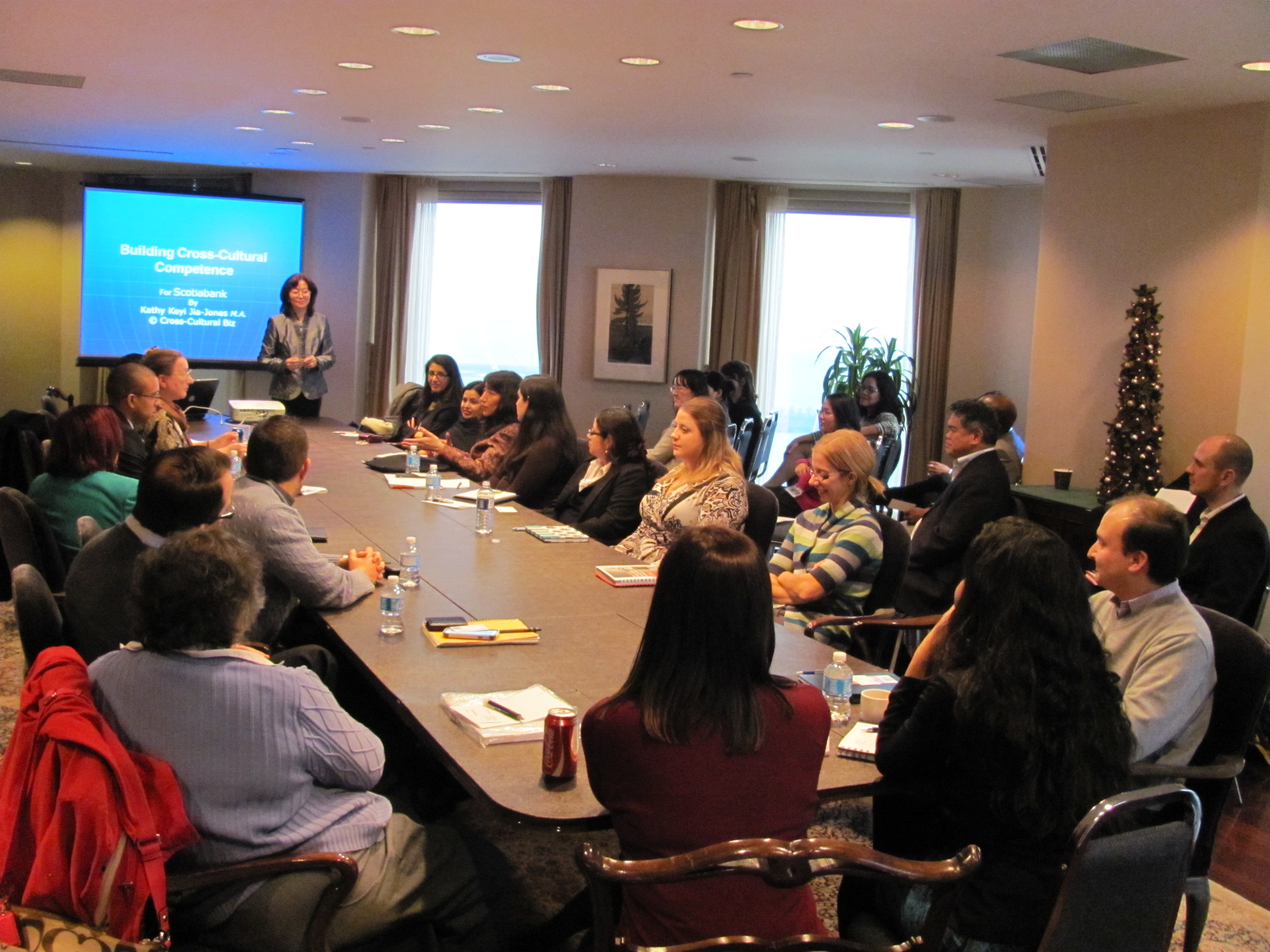 Cross-Cultural Biz Training at the Scotiabank headquaters, Scotia Plaza, Toronto