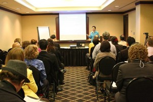 Effective Cross-Cultural Communication and Leadership for Toastmasters International, District 86 Conference TM conference workshop audience and me in centre. IMG_1725